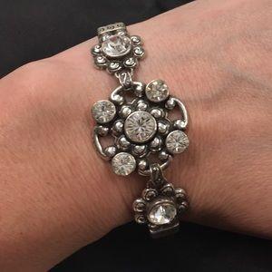 Brighton perfect rhinestone silver bracelet